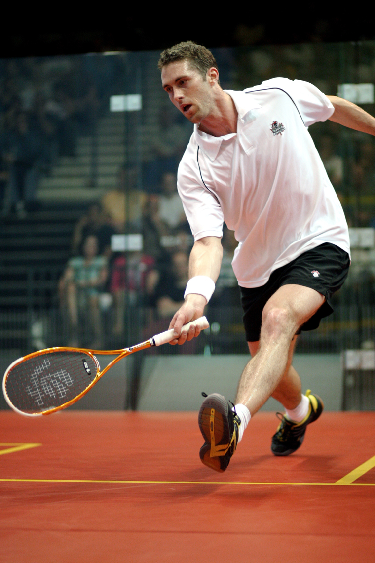 Champion David Palmer uses Ashaway Racket Strings