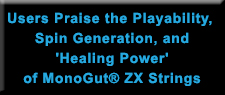Users Praise the Playability, Spin Generation, and 'Healing Power' of MonoGut® ZX Strings